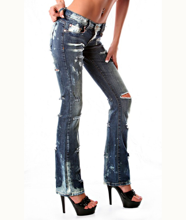 Women's Customer Supplied Jeans Less Destroyed